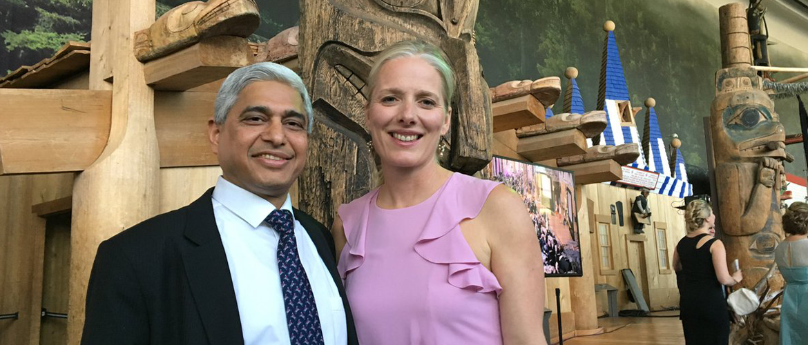 H.E. Mr. Vikas Swarup with Hon. Catherine Mckenna, Canada's Minister for Environment  - 03 June, 2017