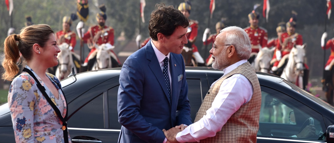 <u>Canadian PM Justin Trudeau Visit to India, 17-23 February, 2018.</u><br> 
