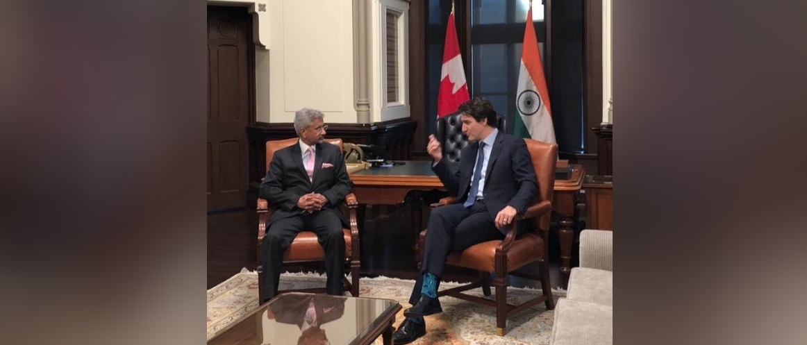EAM Dr. S. Jaishankar called on the Canadian PM Justin Trudeau during his visit to Ottawa on Dec 19, 2019.
